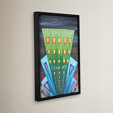 Varick Gallery City Lights 12 Framed Painting Print; 48'' H x 32'' W x 2'' D