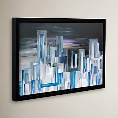 Varick Gallery City Nights 1 Framed Painting Print; 32'' H x 48'' W x 2'' D
