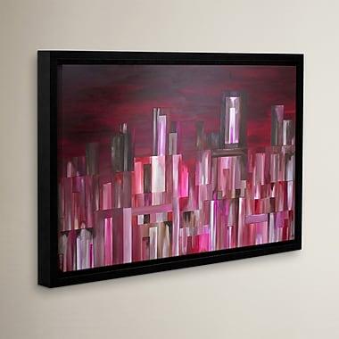 Varick Gallery City Nights 2 Framed Painting Print; 24'' H x 36'' W x 2'' D