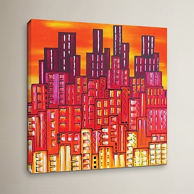 Varick Gallery City Lights 11 Painting Print on Wrapped Canvas; 14'' H x 14'' W x 2'' D