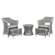 Varick Gallery Boland Outdoor 5 Piece Lounge Seating Group