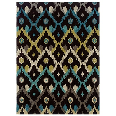 Varick Gallery Askins Hand-Tufted Charcoal Area Rug; 1'10'' x 2'10''