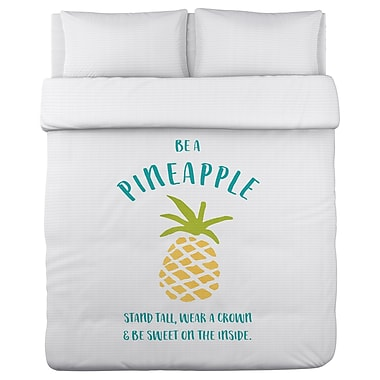 Varick Gallery Orrville Be a Pineapple Duvet Cover; Twin