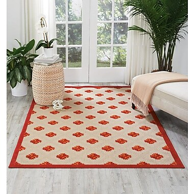 Varick Gallery Gatti Red Indoor/Outdoor Area Rug; 9'6'' x 13'