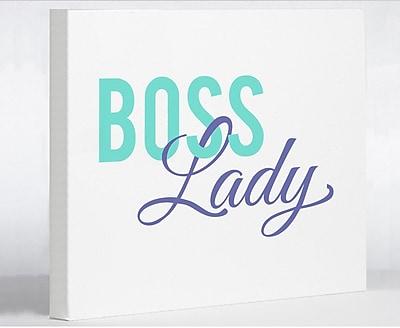 Varick Gallery 'Boss Lady' Textual Art on Canvas; 20'' H x 24'' W x 1.5'' D