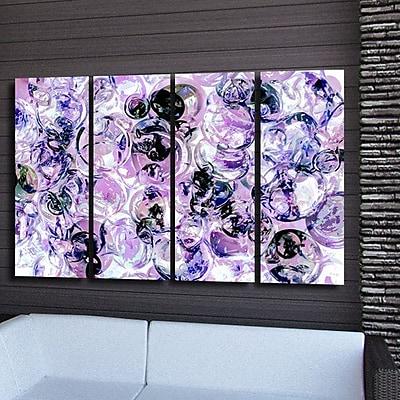 Varick Gallery 'Color Clusters III' 4 Piece Acrylic Painting Print Set