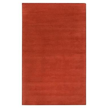 Varick Gallery Villegas Rust Area Rug; Round 6'