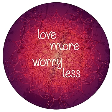 Varick Gallery 'Worry Less' Graphic Art on Metal