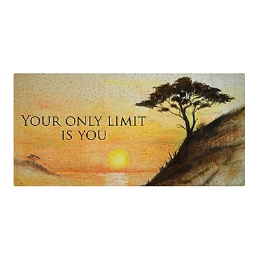 Varick Gallery 'Only Limit' Graphic Art on Metal
