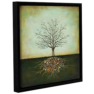 Varick Gallery 'Strung Together' Framed Graphic Art Print on Canvas; 24'' H x 24'' W x 2'' D