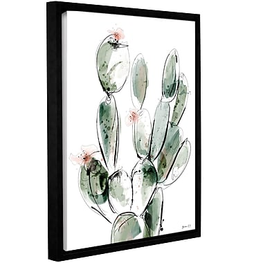 Varick Gallery 'Prickly-Pear' Framed Print on Wrapped Canvas; 24'' H x 18'' W x 2'' D