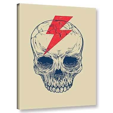 Varick Gallery 'Skull Bolt' Graphic Art Print on Canvas; 24'' H x 18'' W x 2'' D