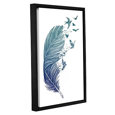 Varick Gallery 'Fly Away' Framed Painting Print on Canvas; 12'' H x 8'' W x 2'' D