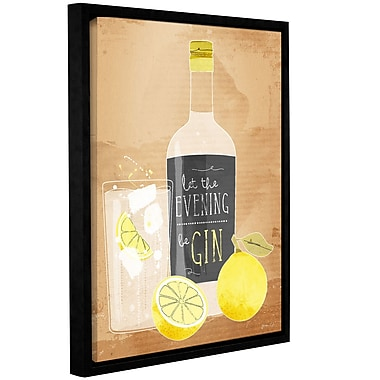 Varick Gallery 'Let the Evening Begin' Framed Graphic Art Print on Canvas; 10'' H x 8'' W x 2'' D