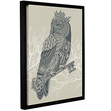 Varick Gallery 'Owl King' Framed Graphic Art Print on Canvas; 10'' H x 8'' W x 2'' D