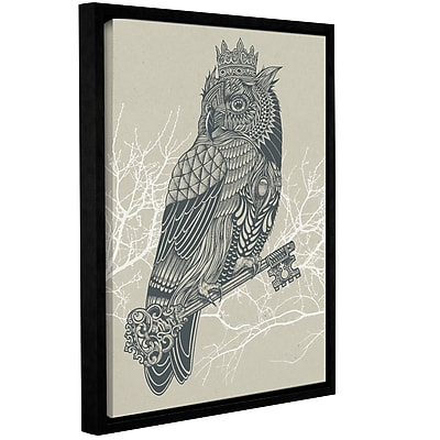 Varick Gallery 'Owl King' Framed Graphic Art Print on Canvas; 32'' H x 24'' W x 2'' D