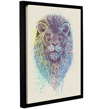 Varick Gallery 'Lion King' Framed Graphic Art Print on Canvas; 24'' H x 18'' W x 2'' D