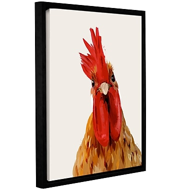 Varick Gallery 'Chicken or the Egg' Framed Painting Print on Canvas; 18'' H x 14'' W x 2'' D