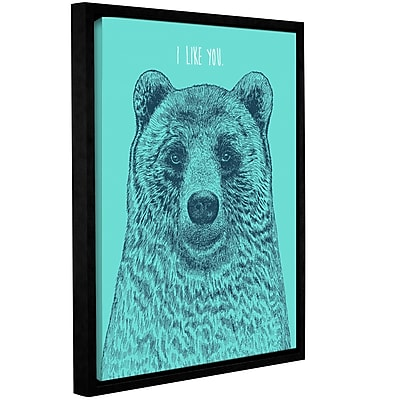 Varick Gallery 'I Like You Bear' Framed Graphic Art Print on Canvas; 48'' H x 36'' W x 2'' D