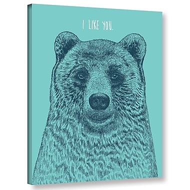 Varick Gallery 'I Like You Bear' Graphic Art Print on Canvas; 24'' H x 18'' W x 2'' D