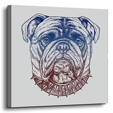 Varick Gallery 'Gritty Bulldog' Graphic Art Print on Canvas; 14'' H x 14'' W x 2'' D