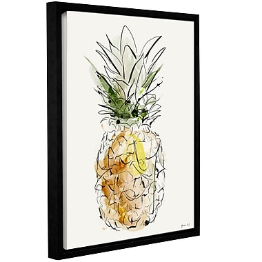 Varick Gallery 'Fine Apple' Framed Painting Print on Canvas; 10'' H x 8'' W x 2'' D
