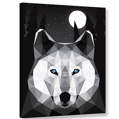 Varick Gallery 'Tundra Wolf' Graphic Art Print on Canvas; 18'' H x 14'' W x 2'' D
