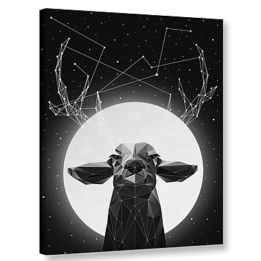 Varick Gallery 'Banyon Deer' Graphic Art Print on Canvas; 32'' H x 24'' W x 2'' D