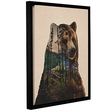 Varick Gallery 'Bear Lake' Framed Graphic Art Print on Canvas; 32'' H x 24'' W x 2'' D