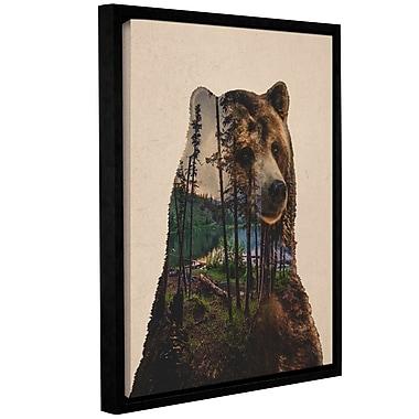 Varick Gallery 'Bear Lake' Framed Graphic Art Print on Canvas; 10'' H x 8'' W x 2'' D