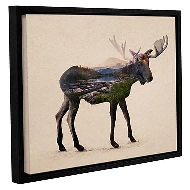 Varick Gallery 'The Alaskan Bull Moose' Framed Graphic Art Print on Canvas; 24'' H x 32'' W x 2'' D