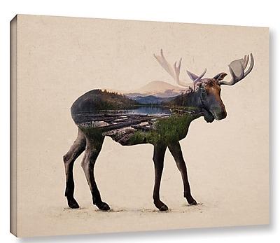 Varick Gallery 'The Alaskan Bull Moose' Graphic Art Print on Canvas; 36'' H x 48'' W x 2'' D