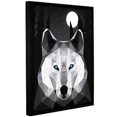 Varick Gallery 'Tundra Wolf' Framed Graphic Art Print on Canvas; 10'' H x 8'' W x 2'' D