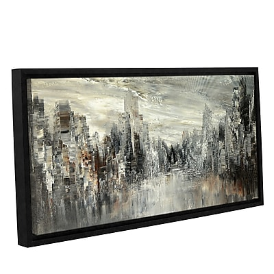 Varick Gallery 'City of the Century' Framed Graphic Art Print on Canvas; 6'' H x 12'' W x 2'' D