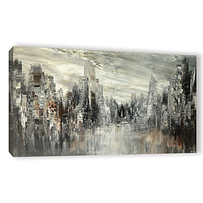 Varick Gallery 'City of the Century' Graphic Art Print on Canvas; 6'' H x 12'' W x 2'' D