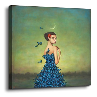 Varick Gallery 'Metamorphosis in Blue' Graphic Art Print on Canvas; 36'' H x 36'' W x 2'' D
