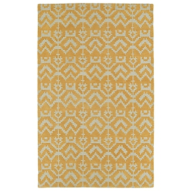 Varick Gallery Hinton Charterhouse Hand-Tufted Butterscotch Area Rug; 9' x 12'