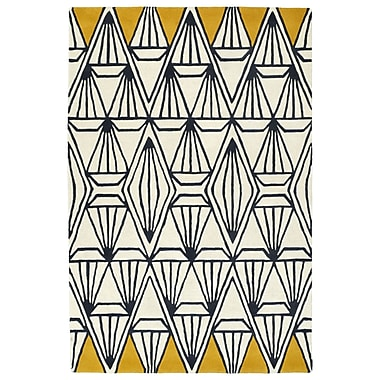 Varick Gallery Ronnie Hand-Tufted Ivory Area Rug; 8' x 10'