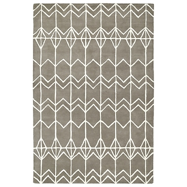 Varick Gallery Ronnie Hand-Tufted Gray Area Rug; 2' x 3'