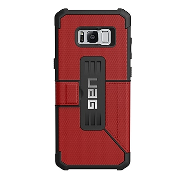 UAG Metropolis Cell Phone Case for Galaxy S8 Plus, Red (GLXS8PLSEMG)