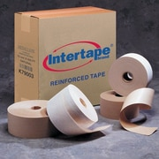 "Intertape White Carton Reinforced Tape, 3"" x 375', 8 Rolls"