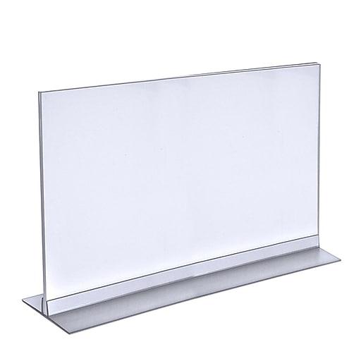 "Azar Displays Acrylic T- Strip Holder, 11"" x 17"", 10/PK (102709)"