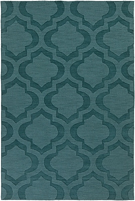 Varick Gallery Castro Teal Geometric Zara Area Rug; 5' x 7'6''
