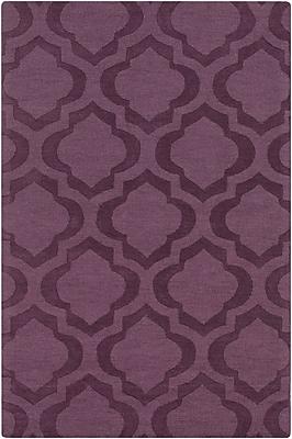 Varick Gallery Castro Purple Geometric Kate Area Rug; 4' x 6'