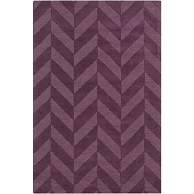 Varick Gallery Castro Purple Chevron Carrie Area Rug; 5' x 7'6''