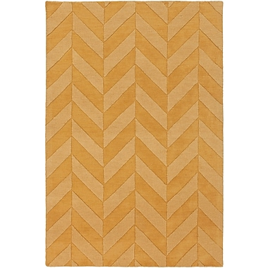 Varick Gallery Castro Yellow Chevron Carrie Area Rug; 2' x 3'