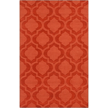 Varick Gallery Castro Orange Geometric Kate Area Rug; 5' x 7'6''