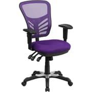Varick Gallery Castillon Mid-Back Mesh Desk Chair; Purple