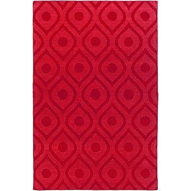 Varick Gallery Castro Red Geometric Zara Area Rug; 3' x 5'