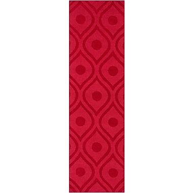 Varick Gallery Castro Red Geometric Zara Area Rug; Runner 2'3'' x 14'